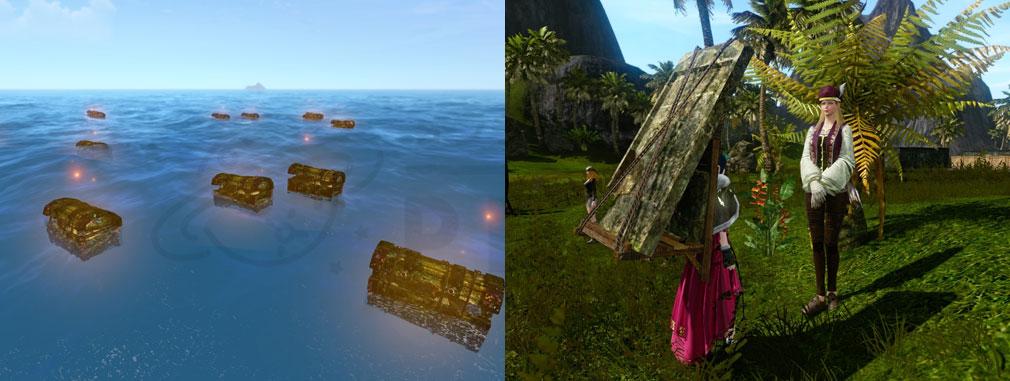 アーキエイジ(ArcheAge) デルフィナードの幽霊船討伐した時の宝箱、特定の商人のNPCスクリーンショット
