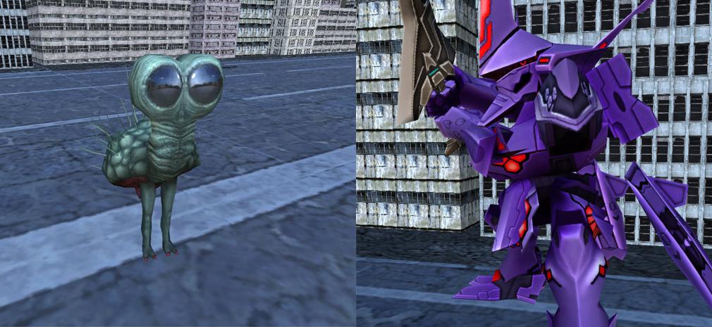 マブラヴ オルタネイティヴ ストライク・フロンティア(MUV-LUV ALTERNATIVE STRIKE FRONTIER) 左:光線級、右:武御雷