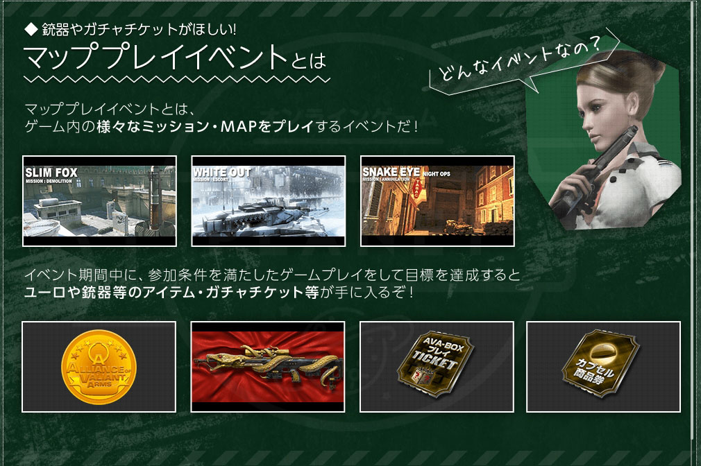 AVA(Alliance of Valiant Arms) 『マッププレイ』イベント概要紹介イメージ