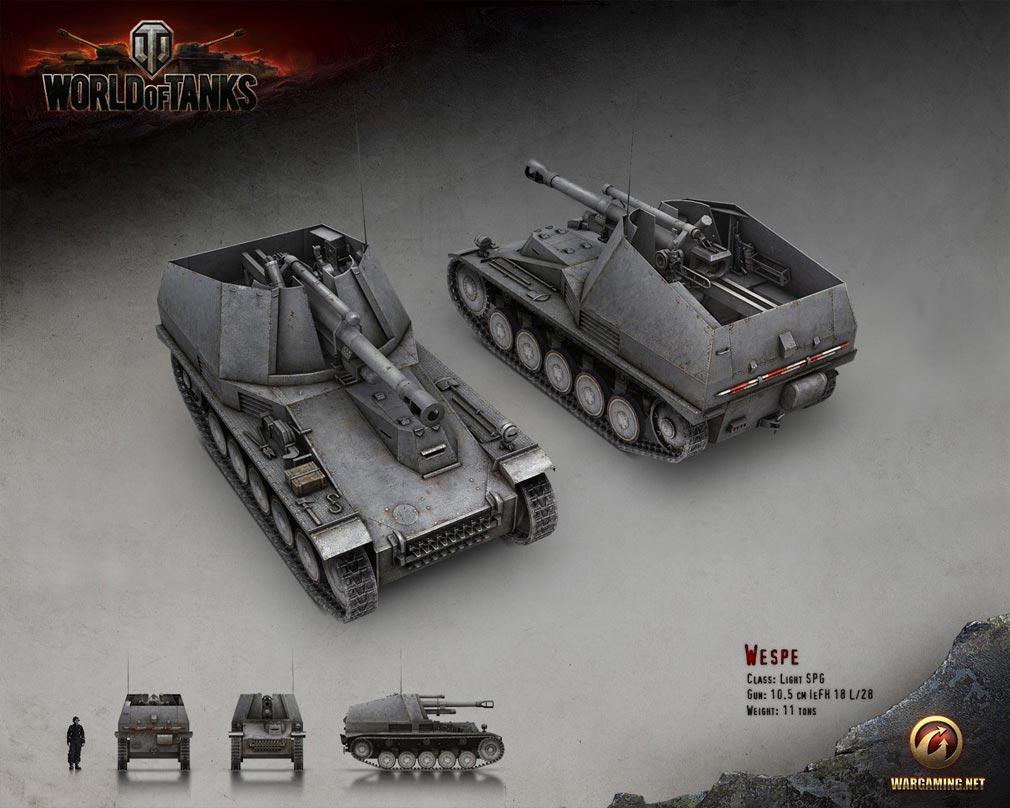 World of Tanks ワールドオブタンクス (WoT) 自走砲 Wespe ドイツ Tier 3