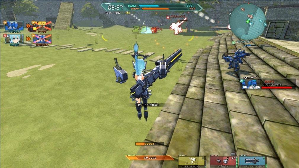 コズミックブレイク2(CB2) フィオナ対戦スクリーンショット