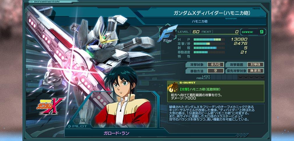 ガンダムジオラマフロント 2nd(ガンジオ) 機動戦士ガンダムX『がロード・ラン』ガンダムXディバイダー(ハミニカ砲)