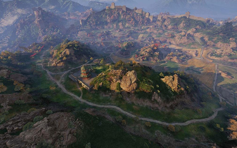 World of Tanks ワールドオブタンクス (WoT) 中国の万里の長城をモチーフにした新マップ『帝国の境界線』スクリーンショット