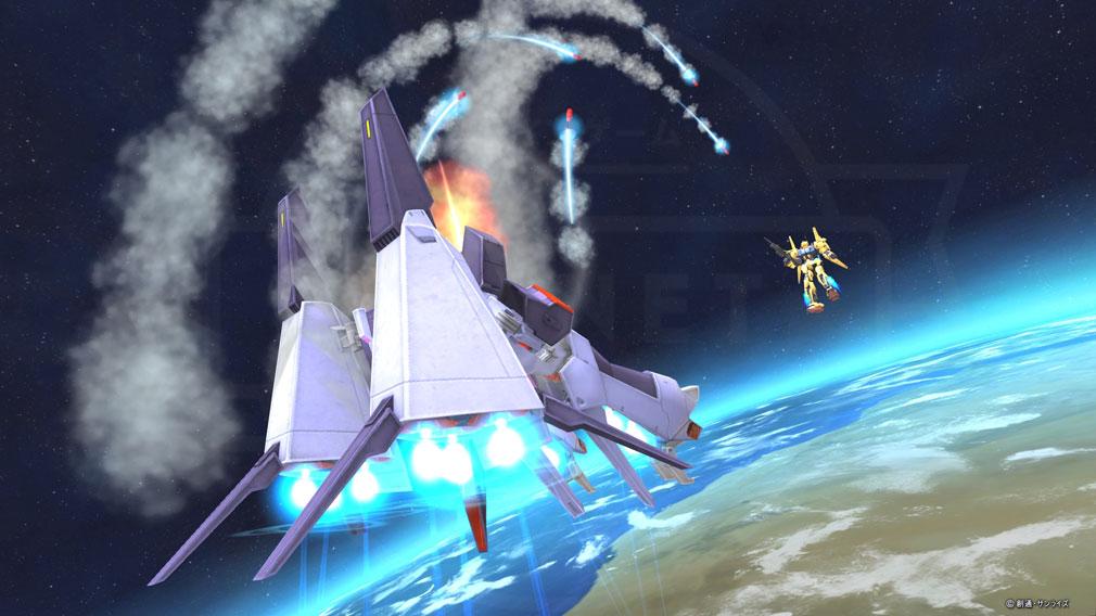 機動戦士ガンダムオンライン(ガンオン) 宇宙バトルスクリーンショット