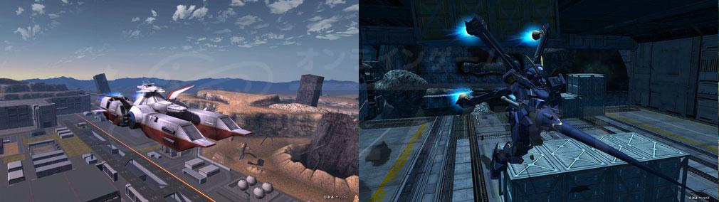 機動戦士ガンダムオンライン(ガンオン) 機体、原作にも登場するマップスクリーンショット