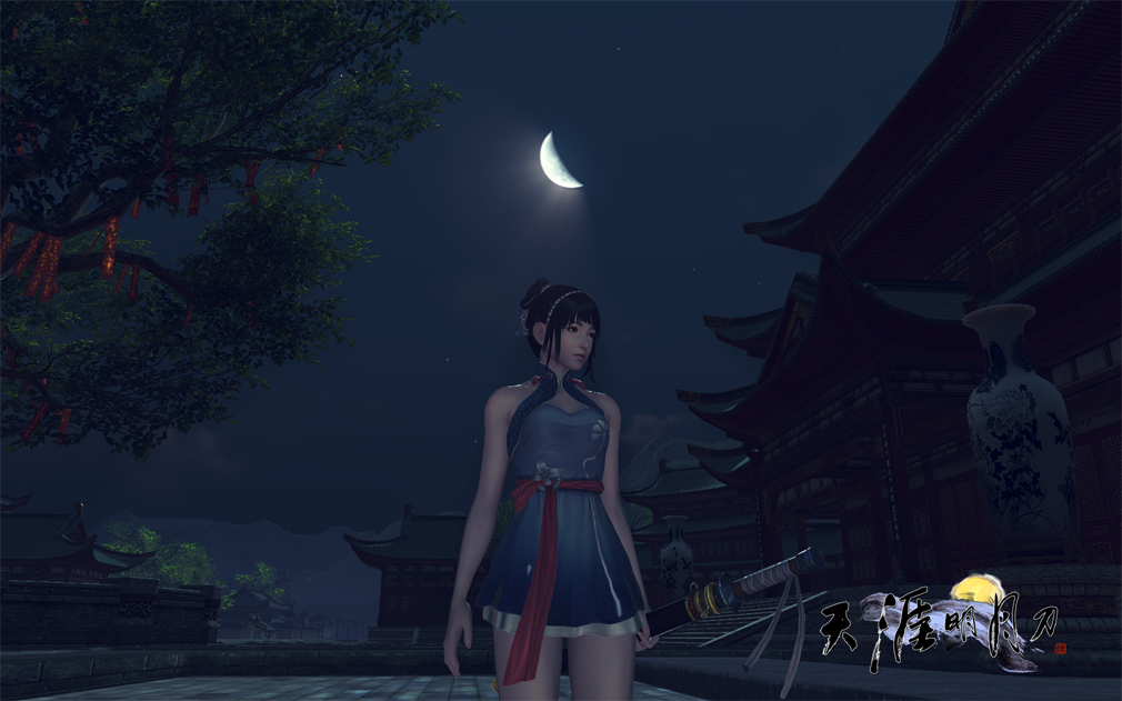天涯明月刀online 女性キャラ3のアップ目スクリーンショット