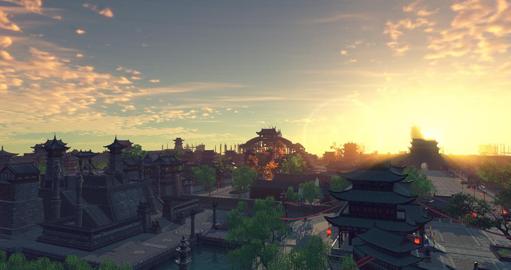 天涯明月刀online 杭州の夕焼けが綺麗なスクリーンショット