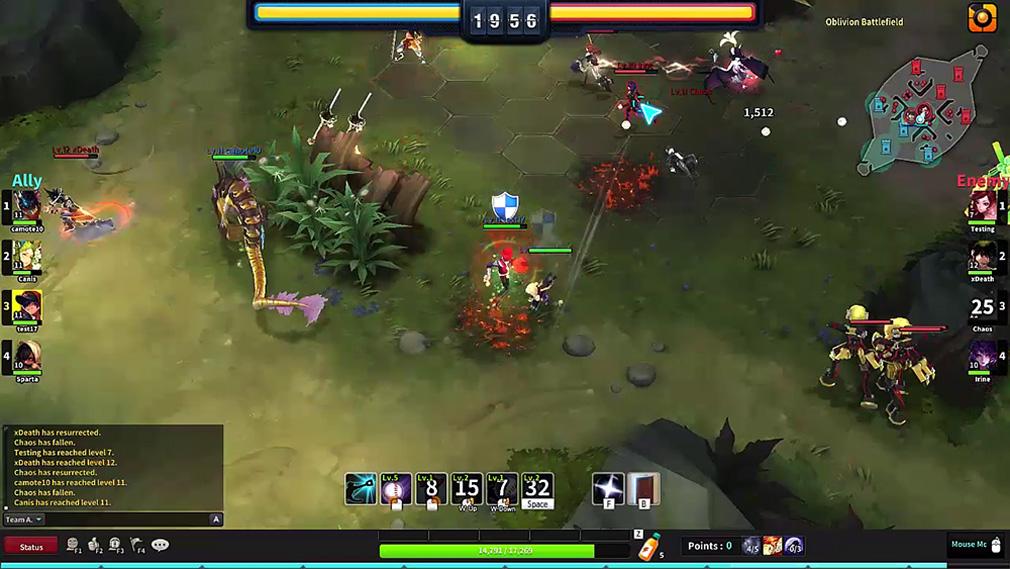 HeroWarz(ヒーローウォーズ) MOBA的なシステムのPvPモード