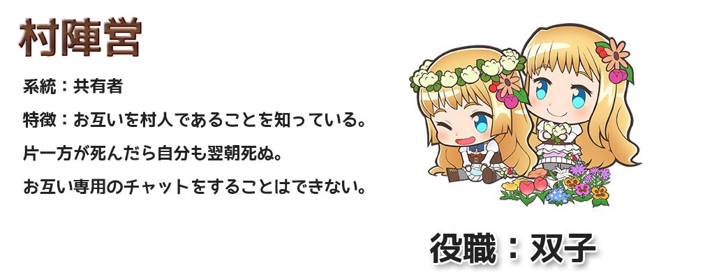 人狼パーティー ハンゲーム 役職:双子