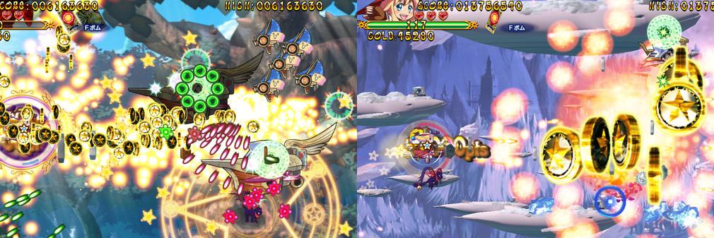 トラブル☆ウィッチーズ Origin! ~アマルガムの娘たち~ 左:錬金、右:魔方陣