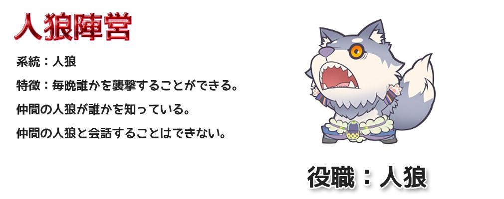 人狼パーティー ハンゲーム 役職:人狼