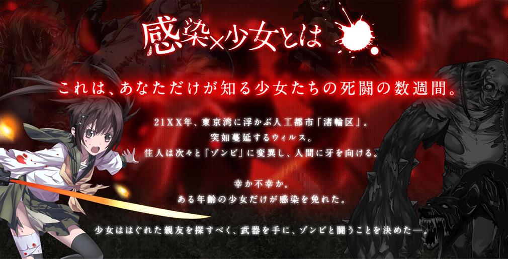 PCブラウウザ版 感染少女 物語紹介