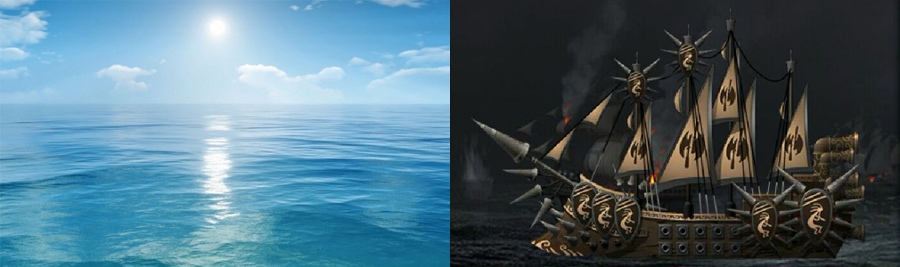 壮絶大航海 Age of Discovery 左:海、右:船