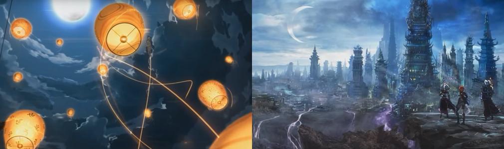 XAOC ザオック 左:アニメーションOP、右:原画イラスト