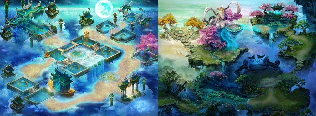リグレティア 左:天庭、右:新手村