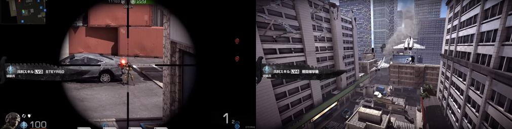 BLACK SQUAD(ブラック スクワッド) レベル3【STEYR50】、レベル4【戦闘爆撃機】