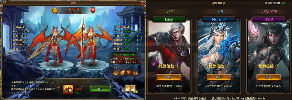 League of Angels2(リーグ オブ エンジェルズ2)LoA2 セシリー進化、ボスバトル難易度