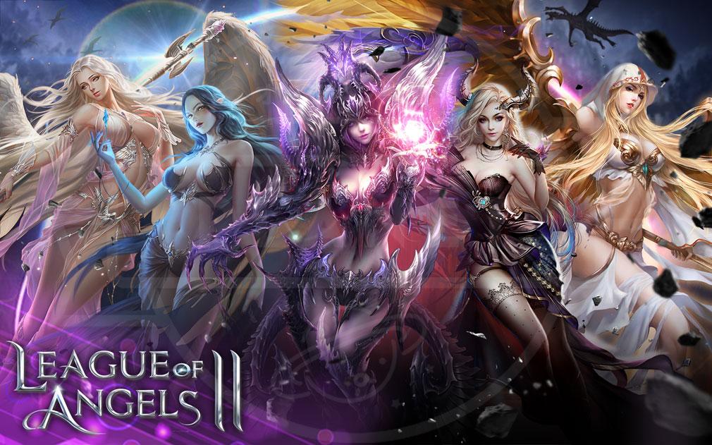 League of Angels2(リーグ オブ エンジェルズ2)LoA2 英雄キャラクター立ち会いのフッターイメージ