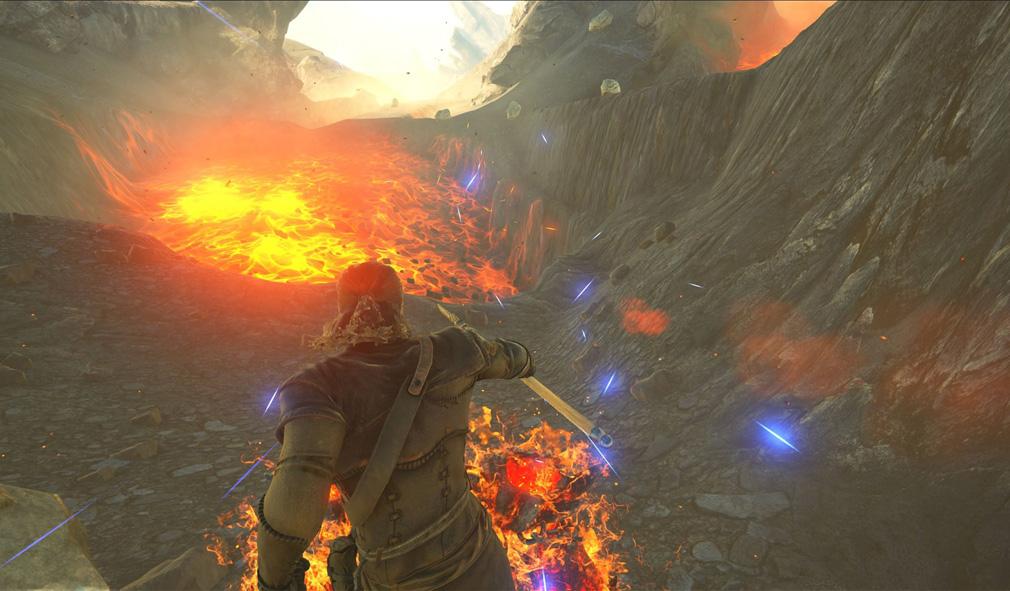 Dark and Light(ダークアンドライト)DnL 火山エリア探索中に起きたマグマ活動