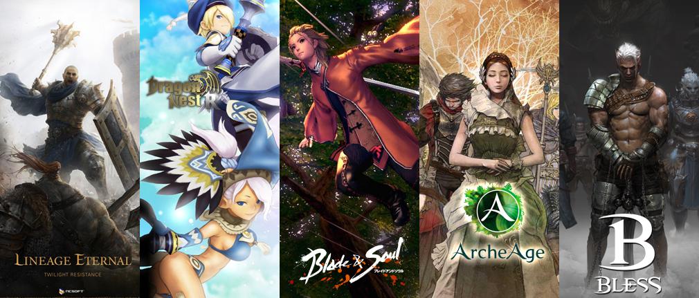 ASTELLIA(アステリア) 『リネージュ エターナル(Lineage Eternal)LE』、『ブレイドアンドソウル(Blade and Soul)』、『ArcheAge(アーキエイジ)』、『BLESS(ブレス)』、『ドラゴンネストR(ドラネス)』