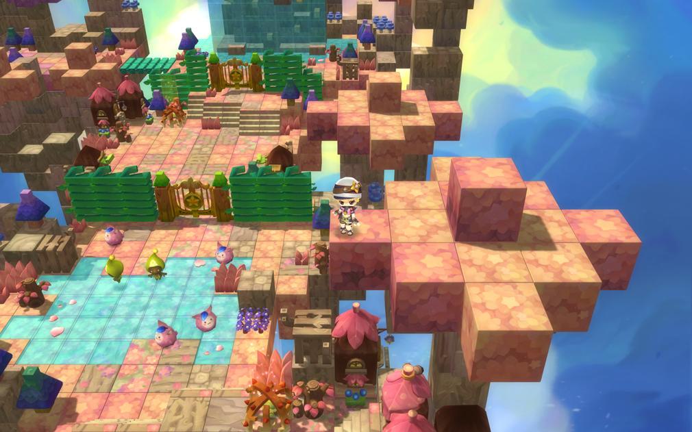 メイプルストーリー2(MAPLE STORY2) 3Dグラフィックスのクォータービュー視点