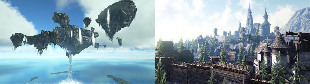 Dark and Light(ダークアンドライト)DnL 天空の島、お城スクリーンショット