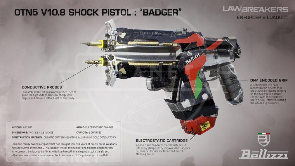 ローブレイカーズ(LawBreakers) 『エンフォーサー(ENFORCER)』武器