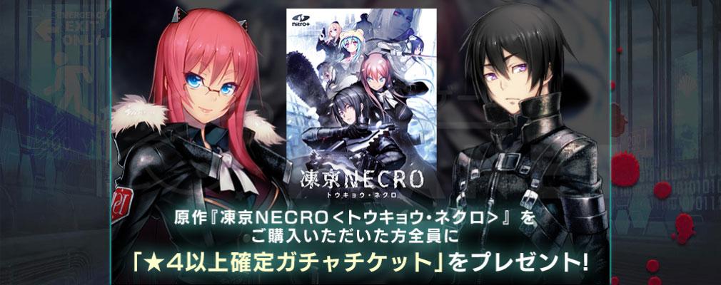 凍京NECRO(トウキョウネクロ) SUICIDE MISSION(スーサイドミッション) PCブラウザ版 原作PCゲーム購入者向けキャンペーンイメージ