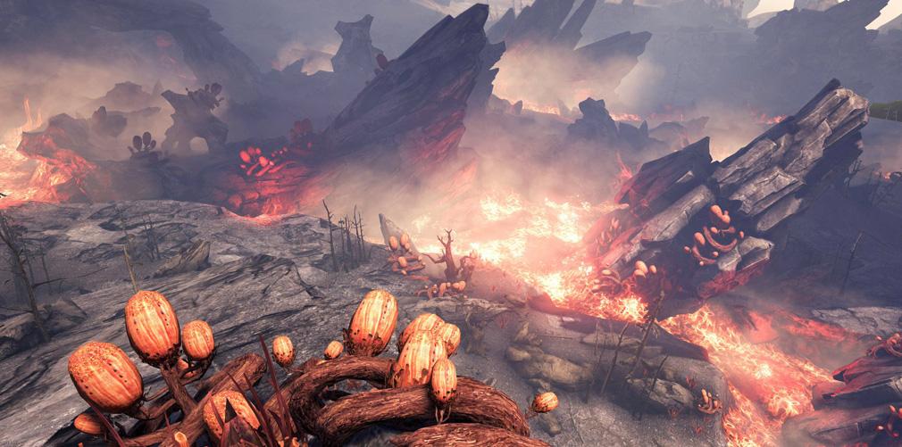Dark and Light(ダークアンドライト)DnL 恐竜、火山エリアの植物