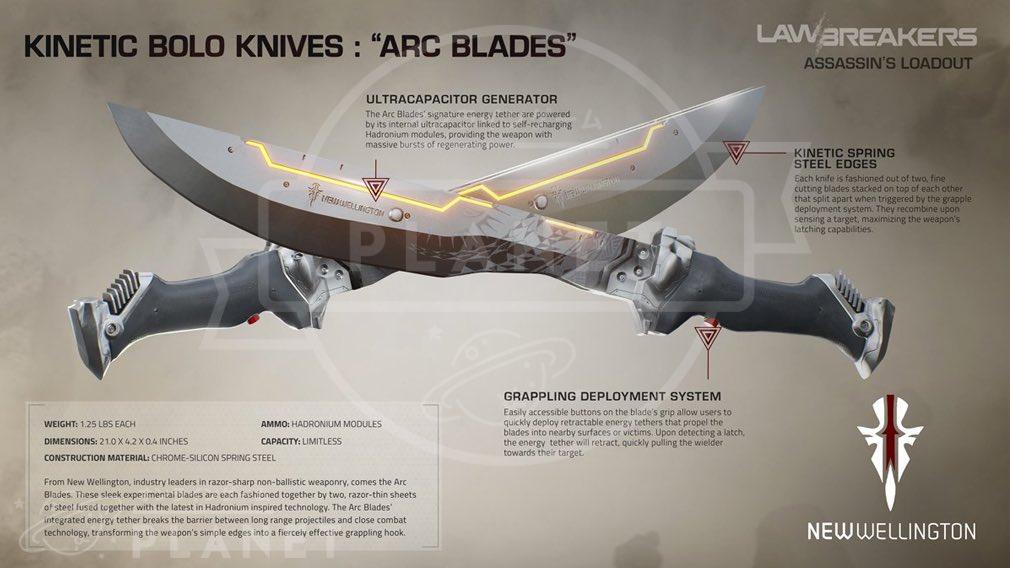 ローブレイカーズ(LawBreakers) 『アサシン(ASSASSIN)』武器