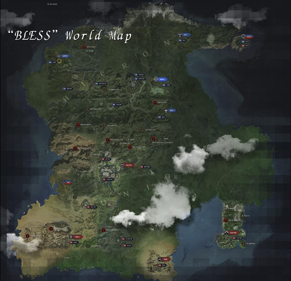 BLESS(ブレス) ワールドマップ