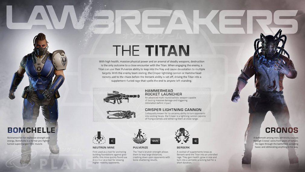 ローブレイカーズ(LawBreakers) 『タイタン(TITAN)』