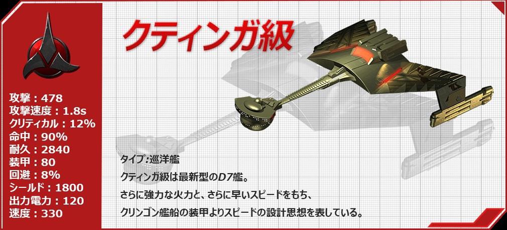 STAR TREK エイリアン ドメイン(スター・トレック) -生命体8472の陰謀- クティンガ級