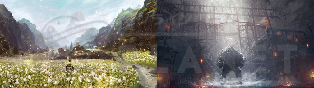 BLESS(ブレス)日本 コンセプトアート【ホルヤ廃墟、ウルトゥース鉱山】