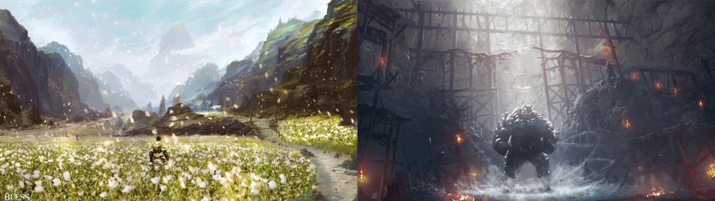 BLESS(ブレス) コンセプトアート【ホルヤ廃墟、ウルトゥース鉱山】