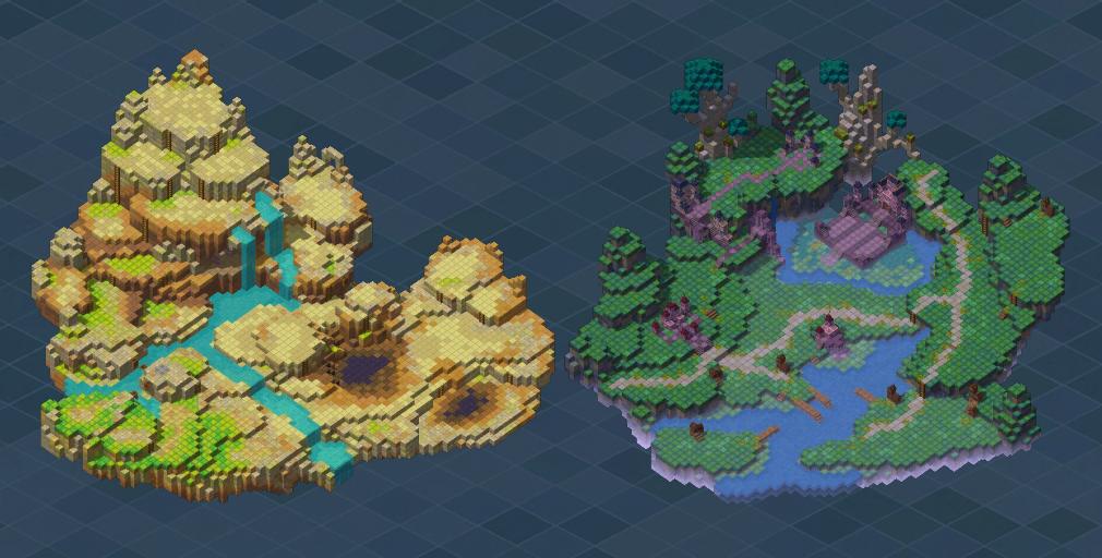 メイプルストーリー2(MAPLE STORY2) キューブ的なブロック構成されたエリア