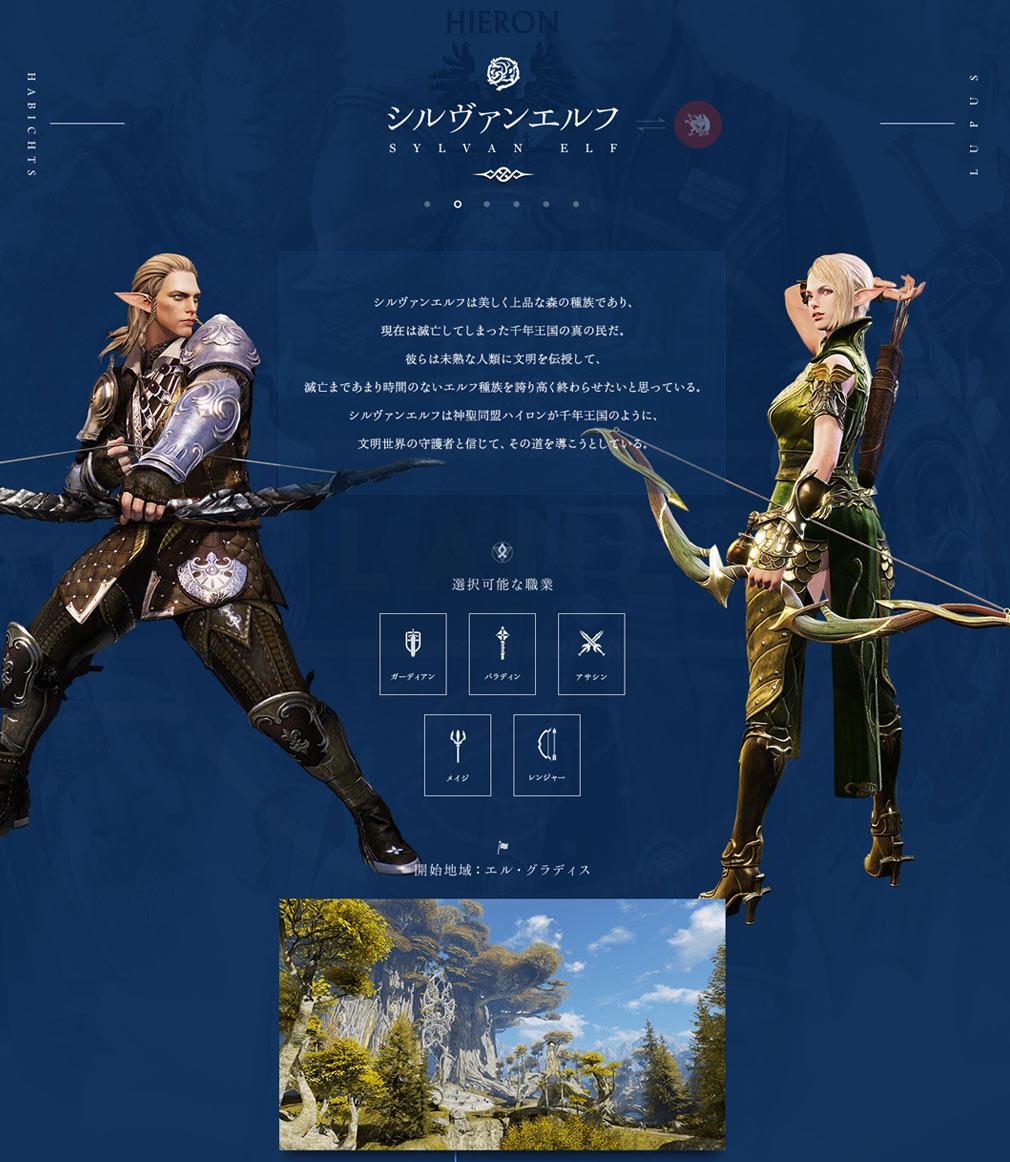 BLESS(ブレス)日本 勢力HIERON(ハイロン)種族『SYLVAN ELF(シルヴァンエルフ)』イメージ