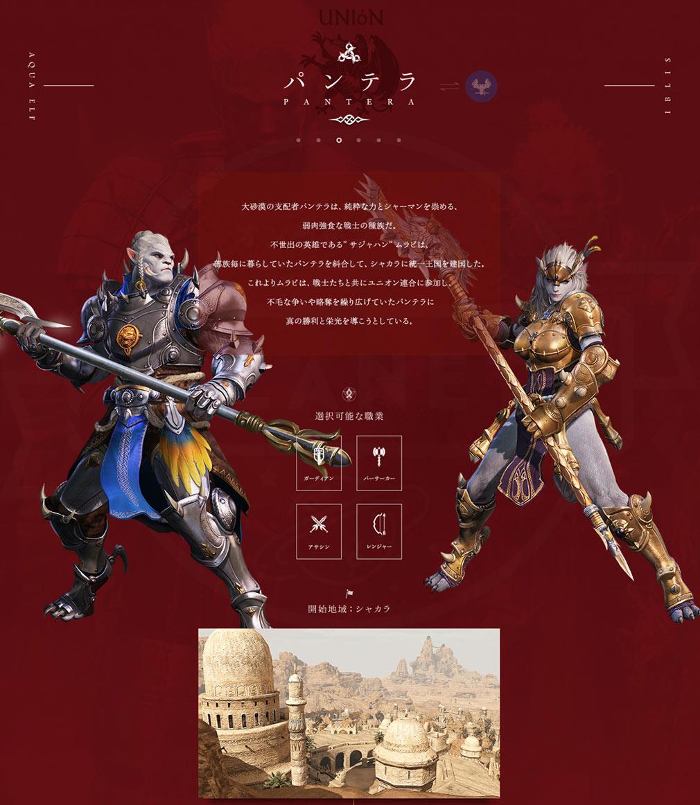 BLESS(ブレス)日本 勢力UNION(ユニオン)種族『PANTERA(パンテラ)』イメージ