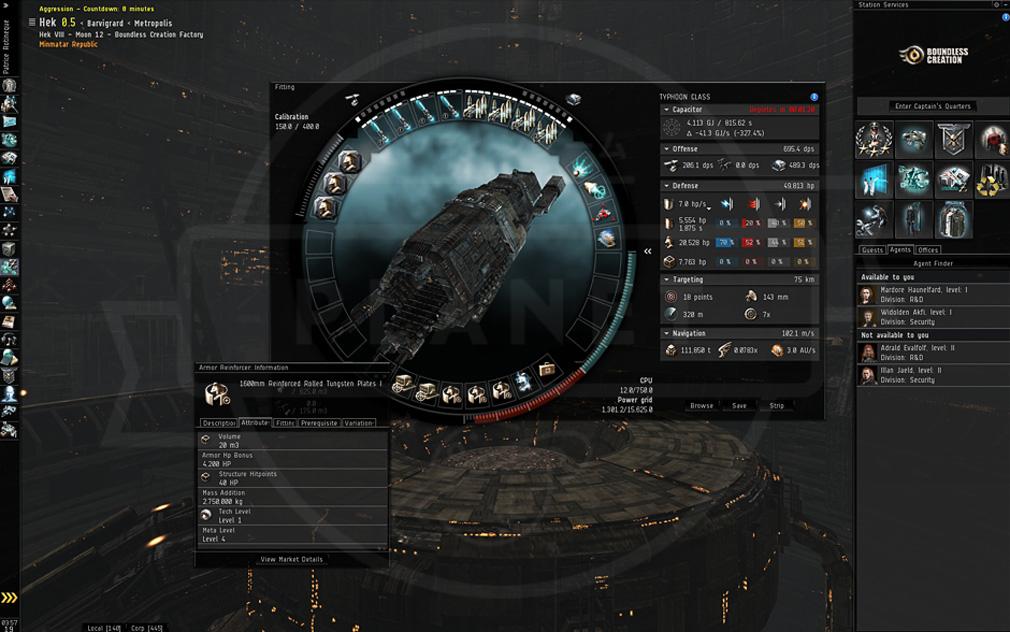 EVE Online(イヴ オンライン) 艦艇スクリーンショット