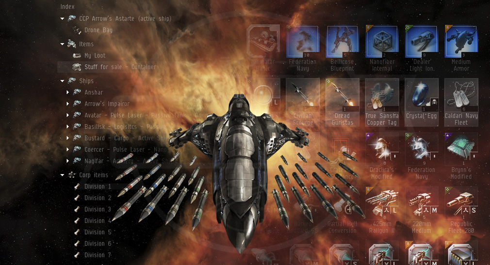 EVE Online(イヴ オンライン) 艦艇武装カスタマイズ