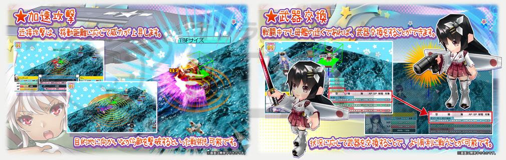 萌え萌え2次大戦(略)3 加速攻撃、武器交換システム
