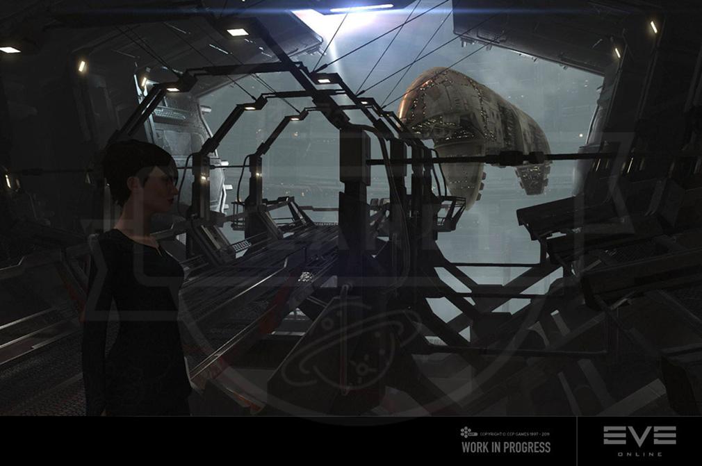 EVE Online(イヴ オンライン) キャラクターの留まるステーションスクリーンショット