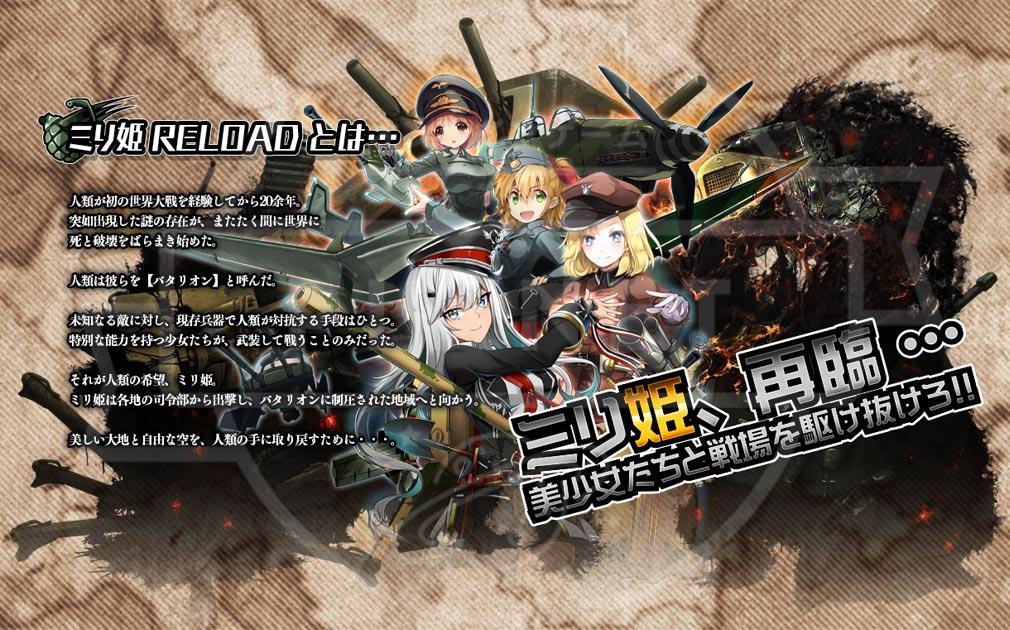 ミリ姫大戦リロード 世界観