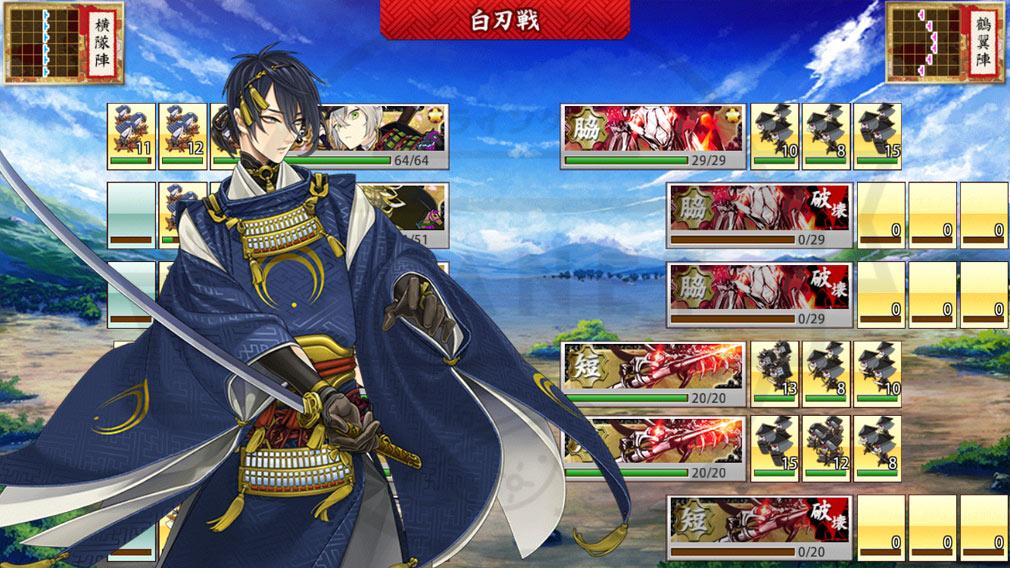 刀剣乱舞オンライン(とうらぶ) PC 三日月宗近戦闘するスクリーンショット