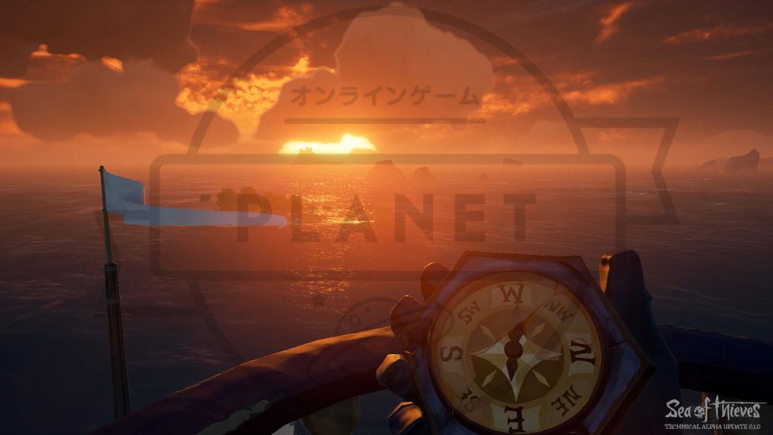Sea of Thieves(シーオブシーヴス) PC 日没グラフィックス