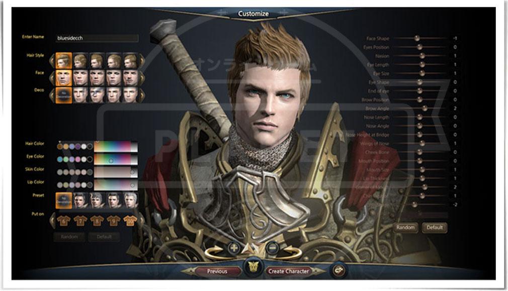 Kingdom Under Fire2(キングダムアンダーファイア)KUF2 キャラクターカスタマイズ画面