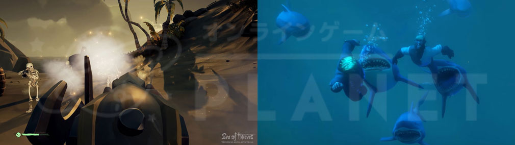 Sea of Thieves(シーオブシーヴス) PC スケルトン、鮫