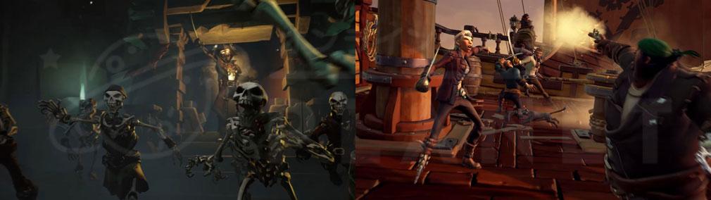 Sea of Thieves(シーオブシーヴス) PC 、スケルトン、船上バトル