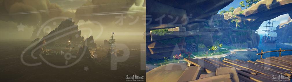 Sea of Thieves(シーオブシーヴス) PC 拠点となる様々な島