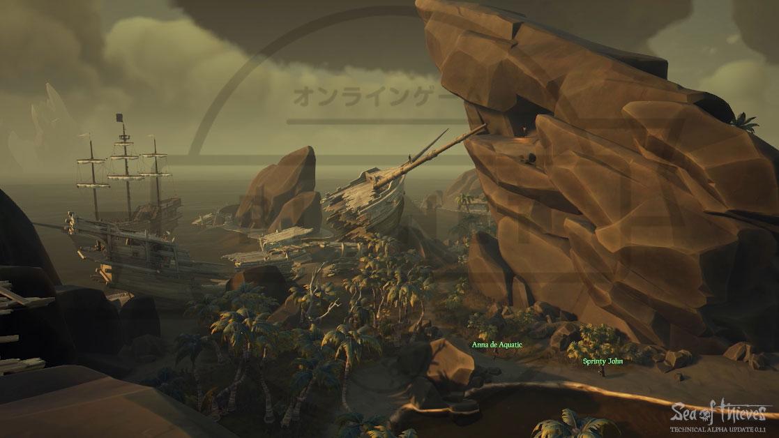 Sea of Thieves(シーオブシーヴス) PC 岩の形成が特徴的な島